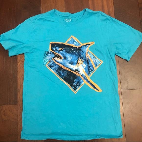 Children's place shark T-shirt sz xxl / 16